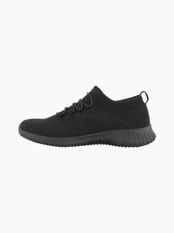 Zwarte slip-on sneaker