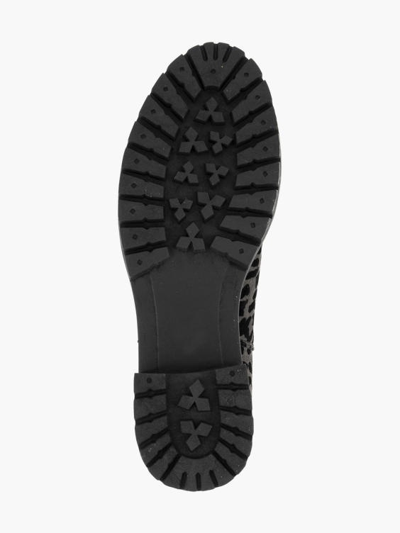 Grijze chelsea boot panterprint
