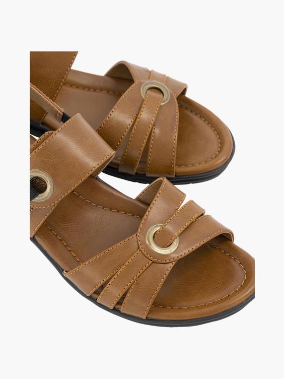 Bruine sandaal klittenband