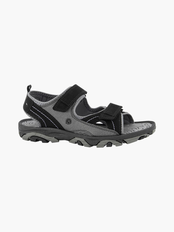 Grijze sandaal klittenband