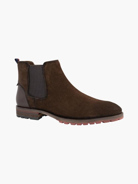 Bruine suède chelsea boot
