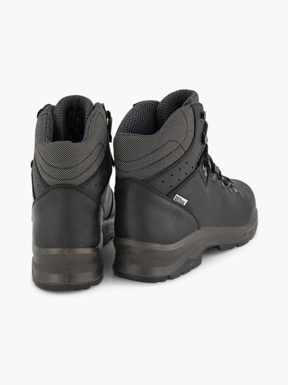 Zwarte leren hoge wandelschoen