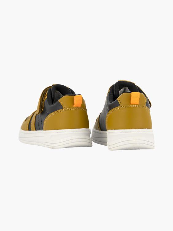 Bruin/zwarte sneaker