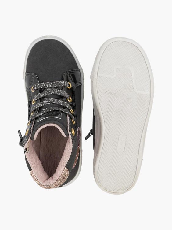 Donkergrijze sneaker