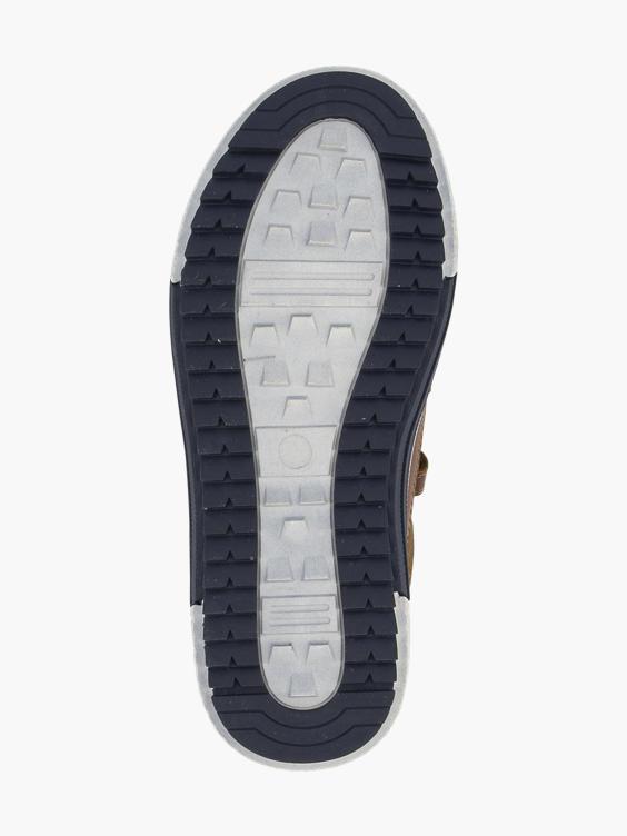 Bruine sneaker klittenband