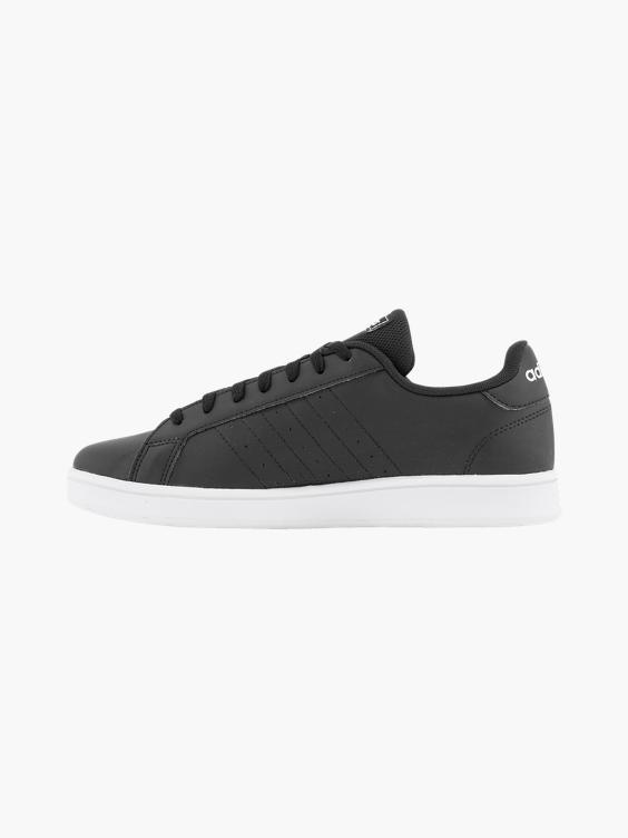 Zwarte adidas Grand Court K sneaker