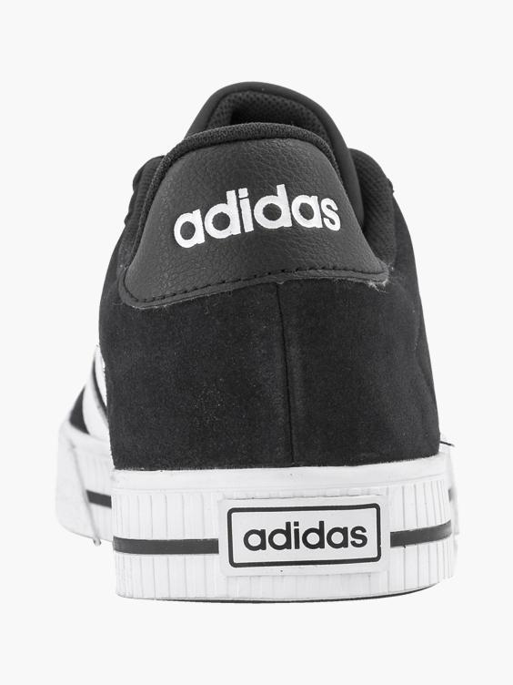 Zwarte leren sneaker
