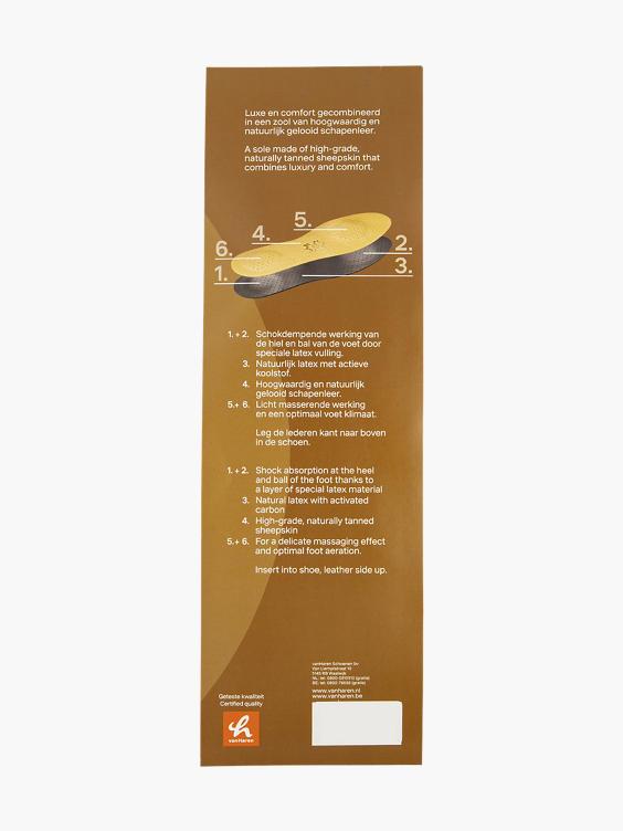 Premium comfort inlegzool leder mt 43