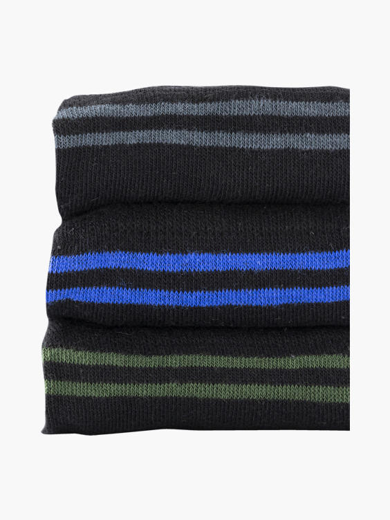 Zwarte sokken 3 pak mt 41-46
