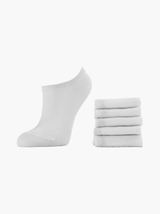 Witte sneakersok 5 pak mt 23-34
