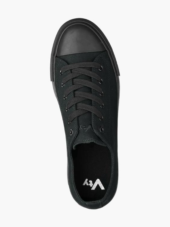 Zwarte canvas sneaker