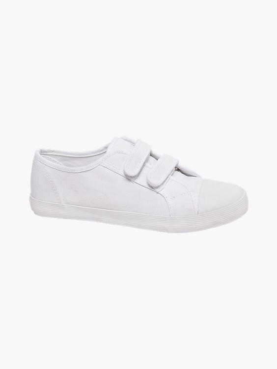 Witte canvas gymschoen