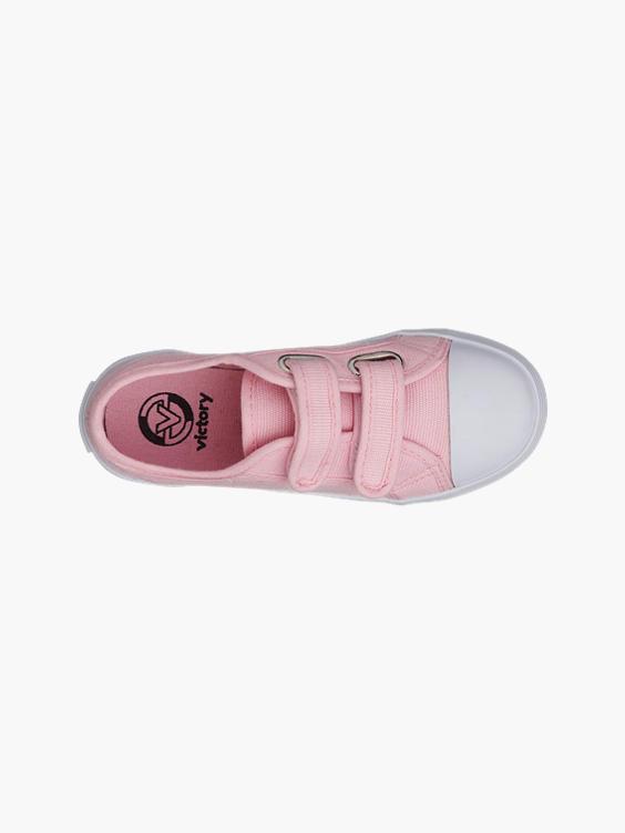Roze canvas gymschoen