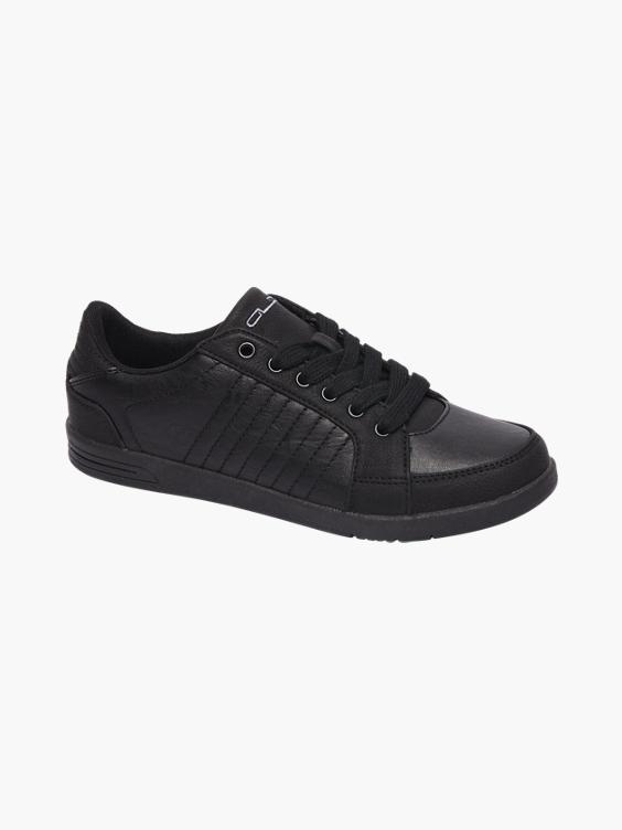 Zwarte sneaker stiksels