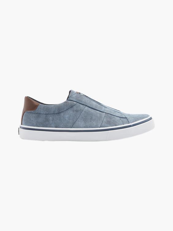 Blauwe sneaker slip on
