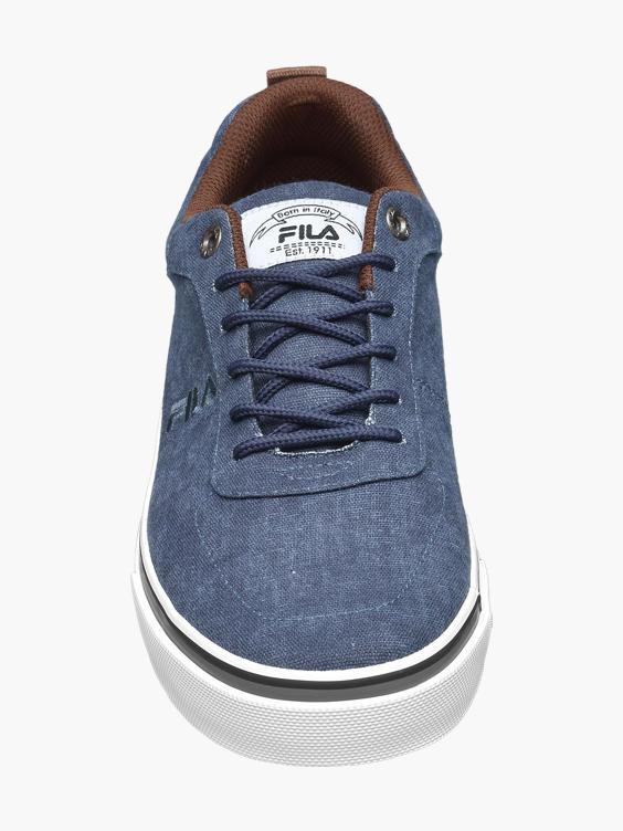 Blauwe canvas sneaker