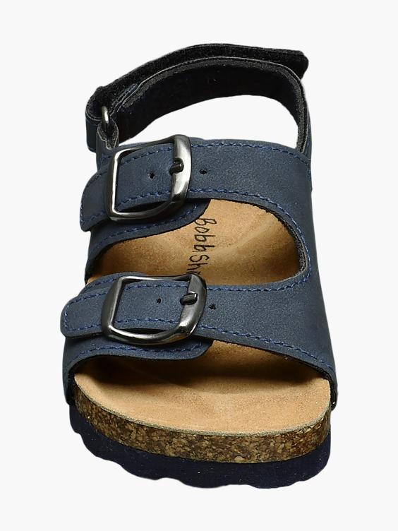 Blauwe sandaal gespsluiting