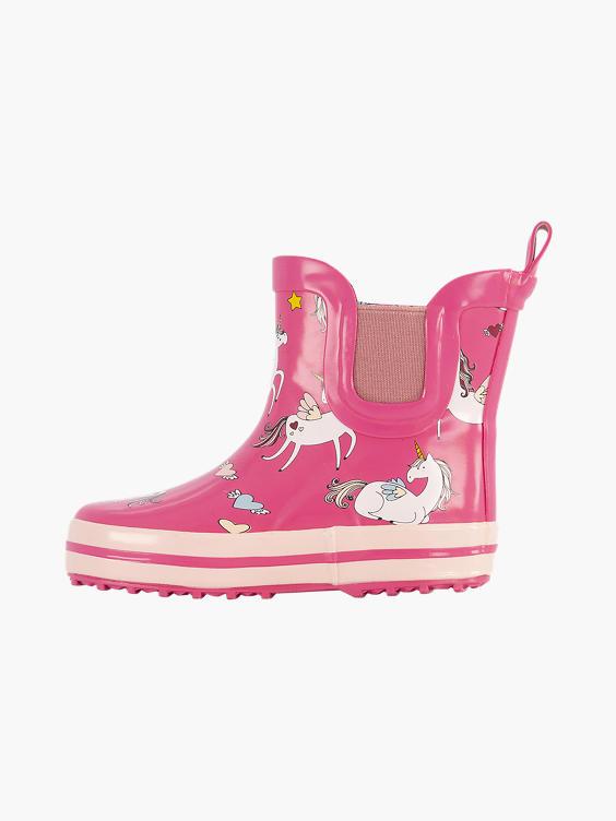 Roze eenhoorn regenlaars