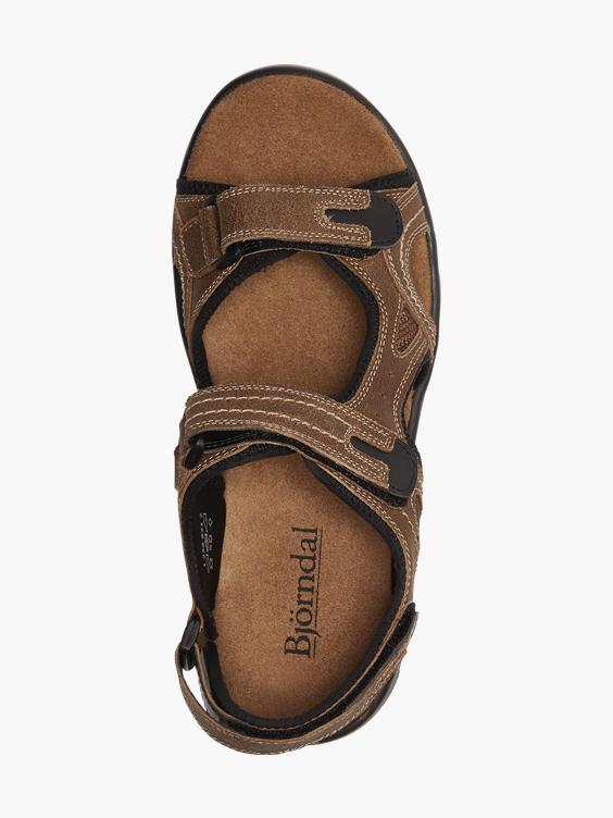 Bruine leren sandaal