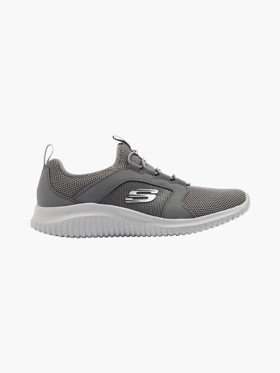 Grijze sneaker elastische veter