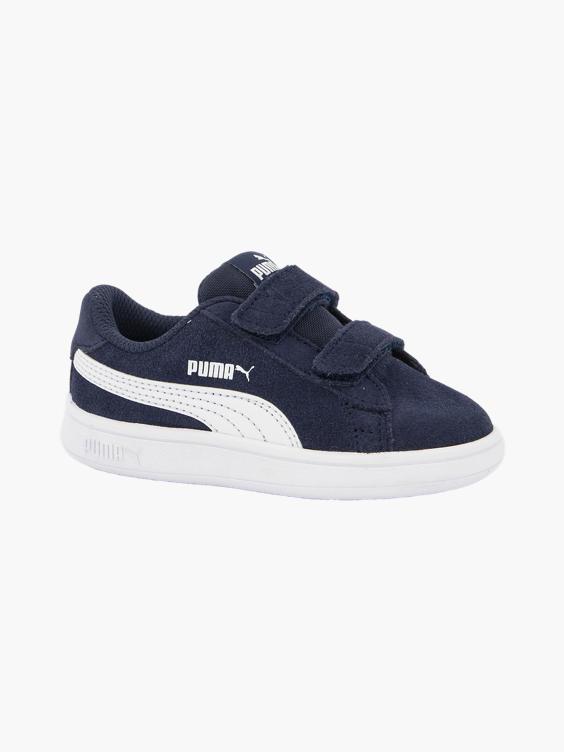 Donker blauwe puma smash leren sneaker