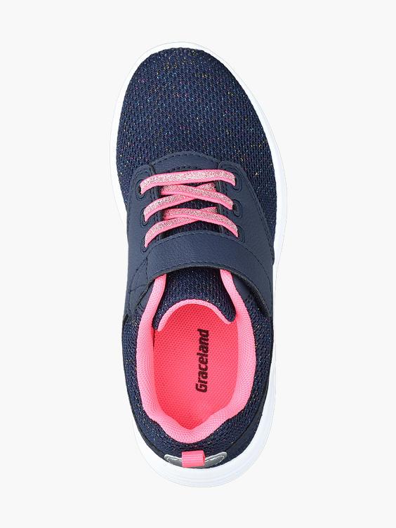Blauwe sneaker glitters