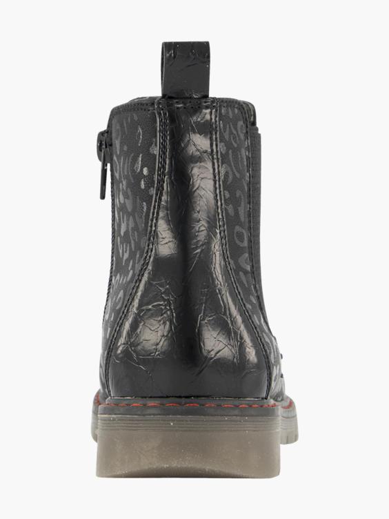 Zwarte chelsea boot panterprint