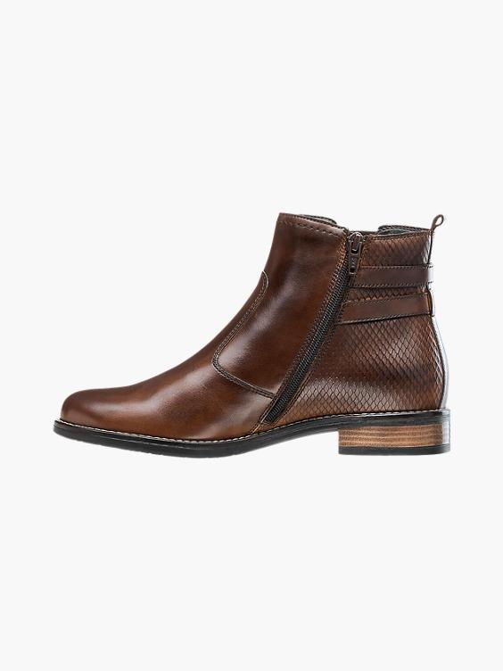 Bruine leren chelsea boot