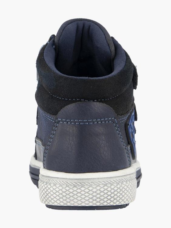 Blauwe boot klittenband