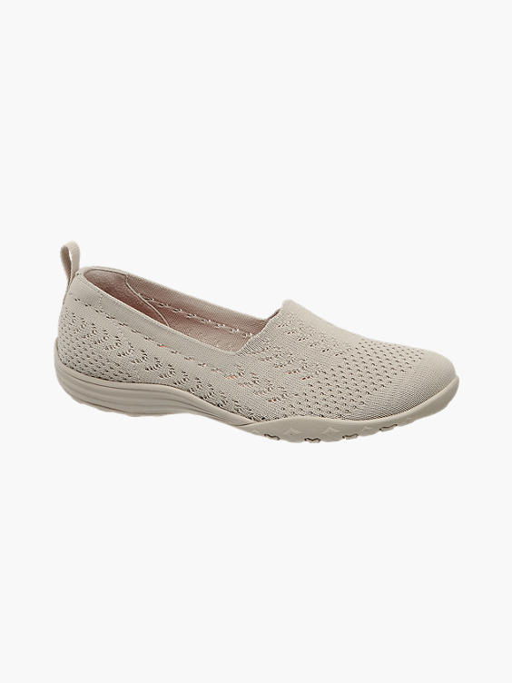 Beige instap sneaker knitted