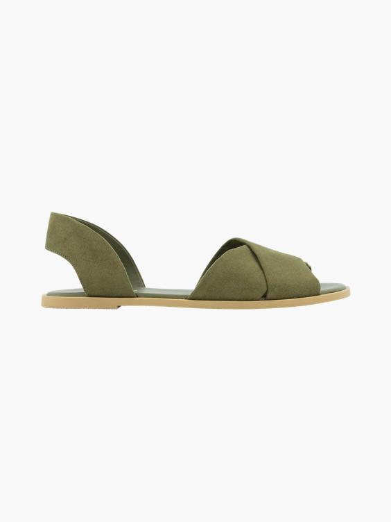 Groene sandaal