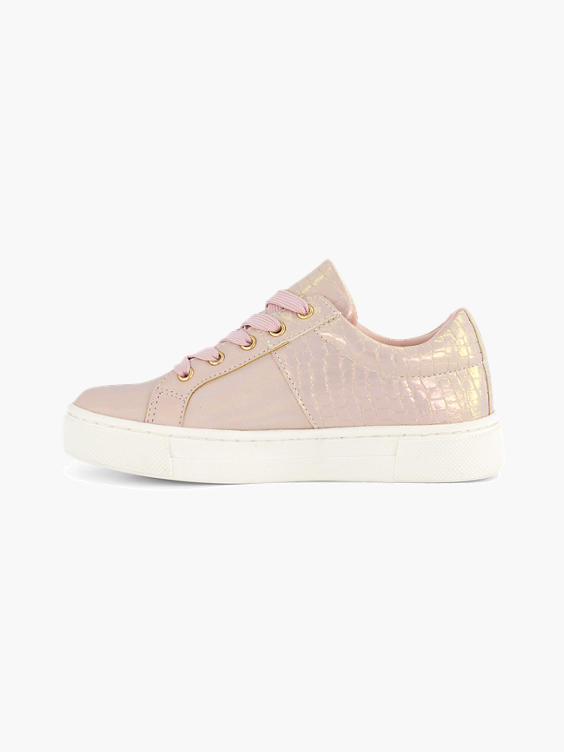 Roze sneaker crocoprint