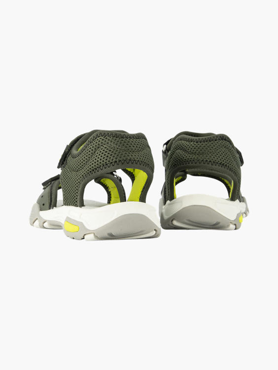 Groene sandaal klittenband