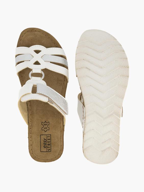 Witte slipper klittenband