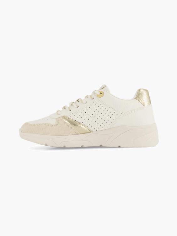 Witte sneaker perforatie