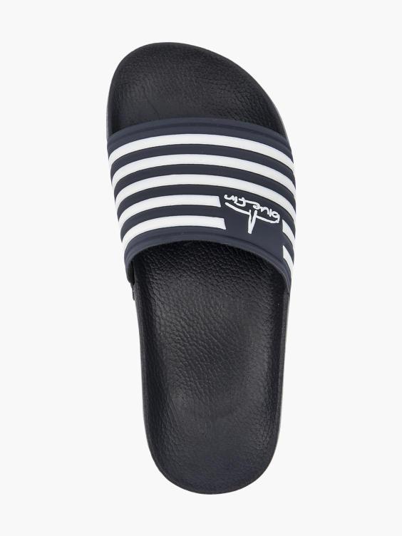 Marine blauwe slipper
