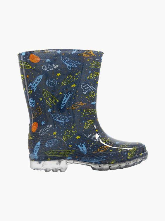 Blauwe raket regenlaars