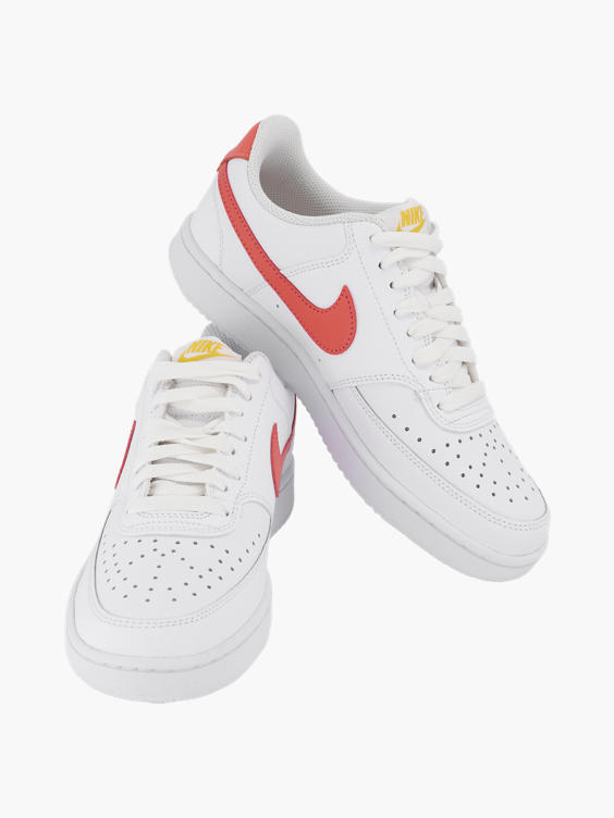 Witte platform sneaker