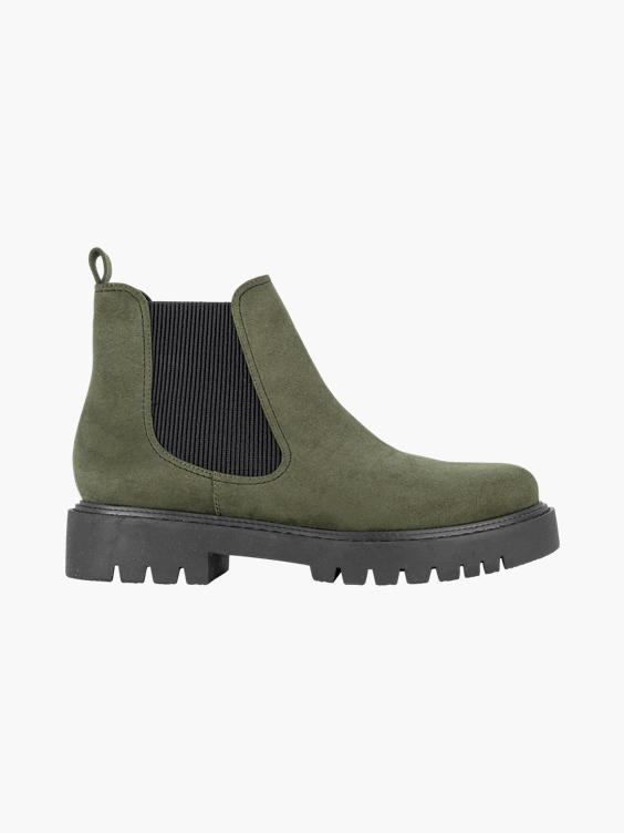 Khaki chelsea boot