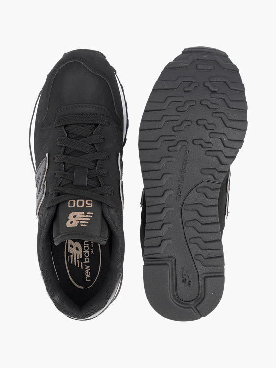 Zwarte platform sneaker