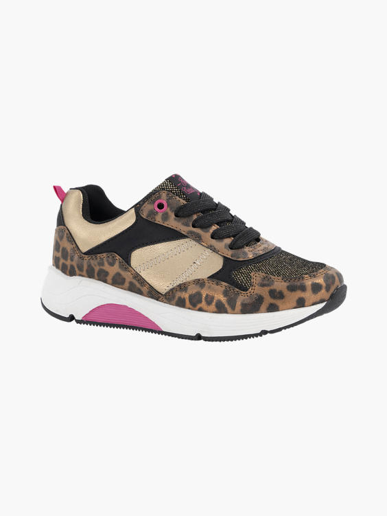 Bronze chunky sneaker panterprint