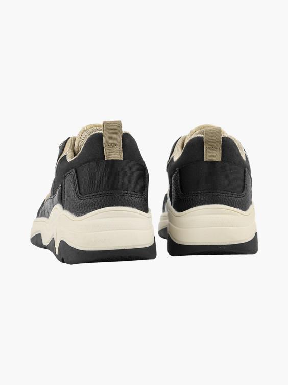 Zwarte chunky sneaker goud