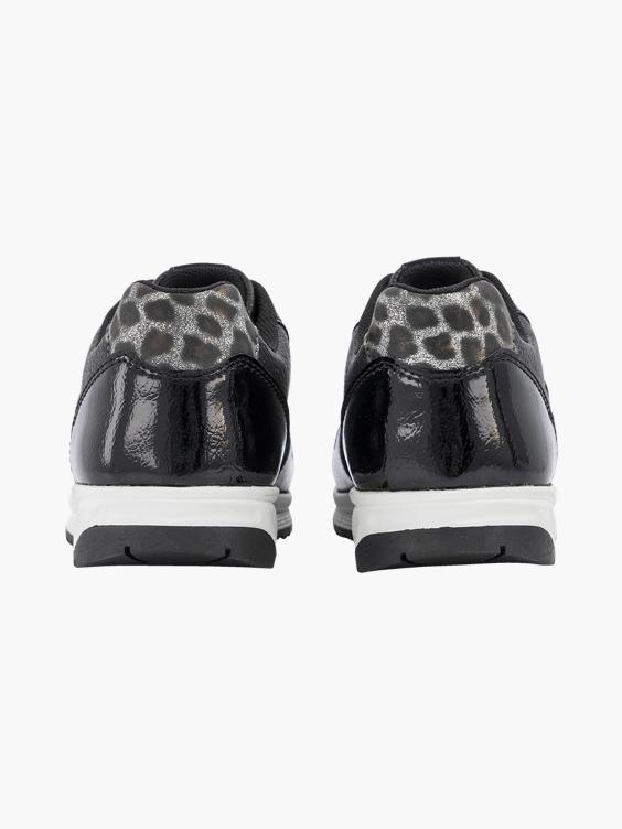 Zwarte sneaker panterprint