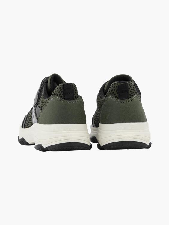 Khaki chunky sneaker stippen