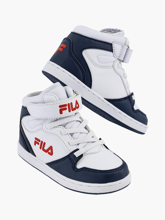 Witte halfhoge sneaker