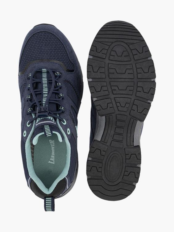 Blauwe wandelschoen