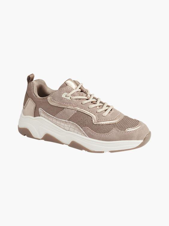 Oudroze chunky sneaker metallic