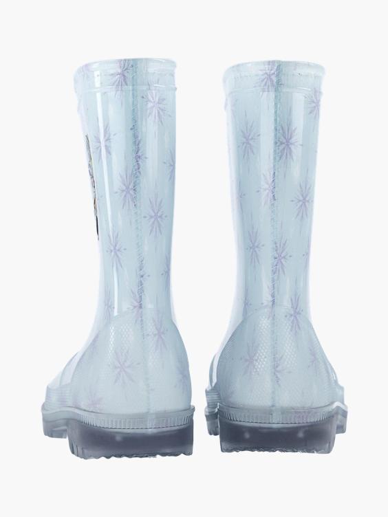 Lichtblauwe Frozen regenlaars
