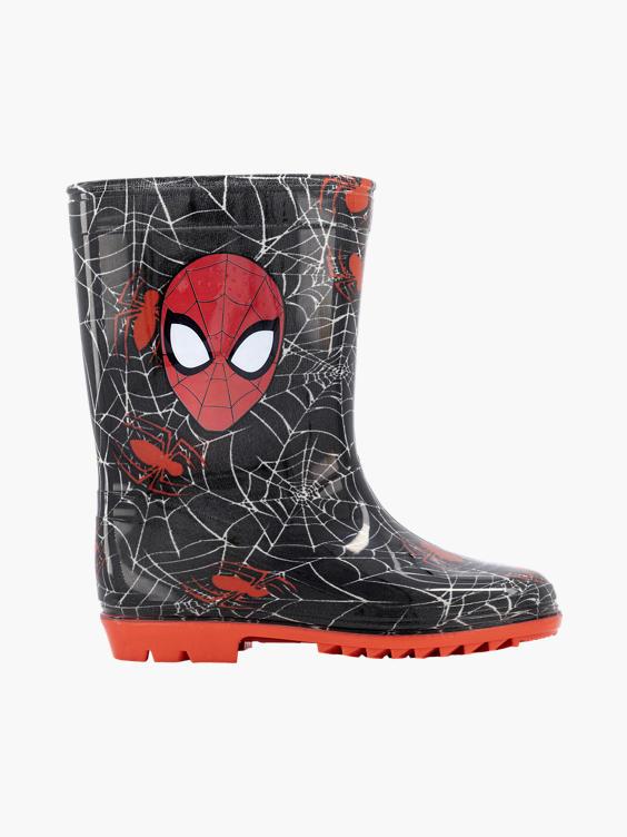 Zwarte Spiderman regenlaars