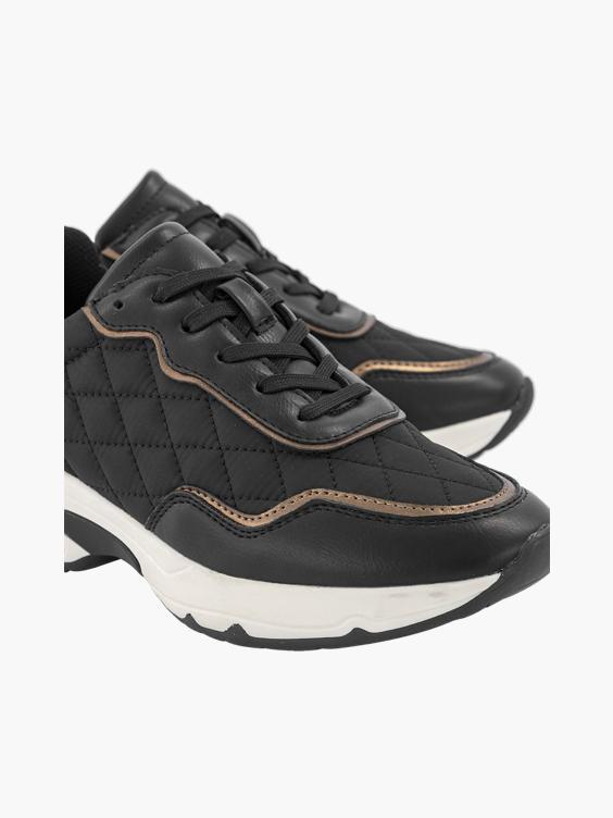 Zwarte chunky sneaker brons